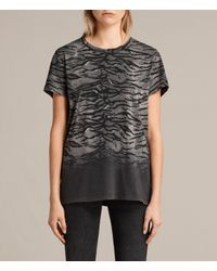 AllSaints - Black Tygr Joy T-shirt - Lyst