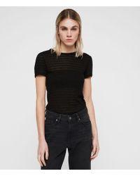 AllSaints - Black Yato T-shirt - Lyst