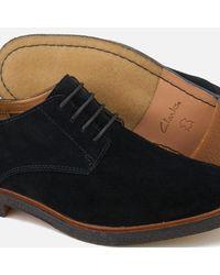 Clarks - Black Clarkdale Moon Suede Derby Shoes for Men - Lyst