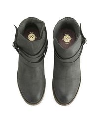 H by Hudson | Gray Women's Horrigan Tie Around Leather Ankle Boots | Lyst