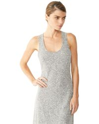 Alternative Apparel - Gray Racerback Printed Eco-jersey Maxi Dress - Lyst