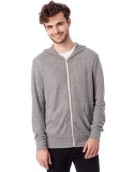 Alternative Apparel | Gray Basic Eco-jersey Zip Hoodie for Men | Lyst