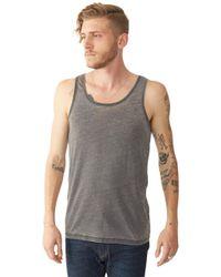 Alternative Apparel   Black Shaggy Tank Top for Men   Lyst
