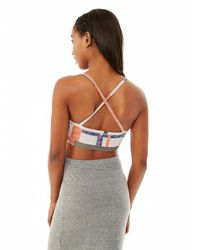 Alternative Apparel - Blue Knock Out Printed Stretch Bustier - Lyst