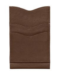 Alternative Apparel | Brown Leather Phone Case Wallet | Lyst