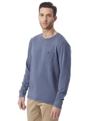 Alternative Apparel - Blue Weathered Wash Lightweight French Terry Pullover - 62602q7 for Men - Lyst