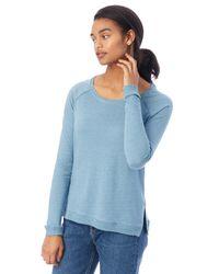 Alternative Apparel - Blue Locker Room Eco-mock Twist Pullover - Lyst