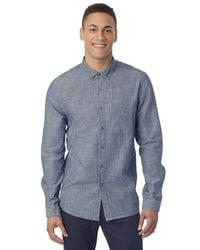 Alternative Apparel - Blue Industry Chambray Shirt for Men - Lyst
