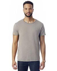 Alternative Apparel Gray Heritage Garment Dyed Crew T-shirt for men