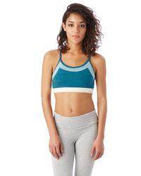 Alternative Apparel - Blue Stretch It Out Eco-lycra Jersey Bra - Lyst