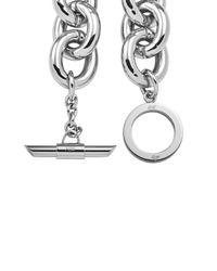 Amanda Wakeley - Metallic Chunky Silver Necklace - Lyst