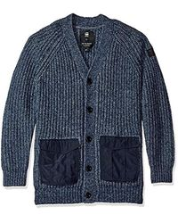 G-Star RAW - Blue Rovic Heavy Cardigan Sweater for Men - Lyst