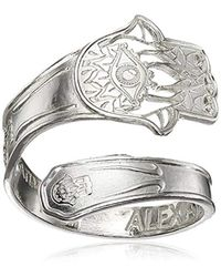 ALEX AND ANI - Metallic Spoon Hand Of Fatima Stackable Ring, Size 7-9 - Lyst