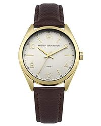 French Connection Multicolor Quartz Metal And Stainless Steel Casual Watch, Color:white (model: Fc1303wrgm)