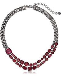 Nicole Miller - Black Mixed Cushion Collar Necklace - Lyst
