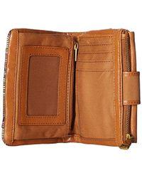 Fossil - Brown Ellis Multifunction Wallet - Lyst