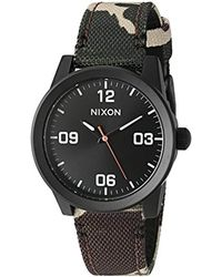 Nixon - Multicolor 'g.i.' Quartz Stainless Steel And Nylon Watch, Multi Color (model: A964047-00) - Lyst