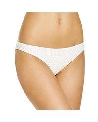 Shoshanna - White Daisy Eyelet Classic Bikini Bottom - Lyst