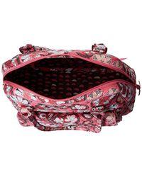 Vera Bradley - Pink Turnlock Satchel, Signature Cotton - Lyst