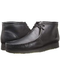 Clarks - Black Wallabee Boot for Men - Lyst