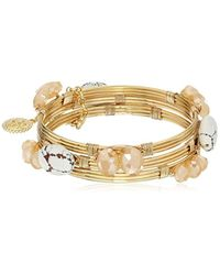Jessica Simpson - Metallic Set Of 3 Stone Wrapped Bangle Bracelet - Lyst