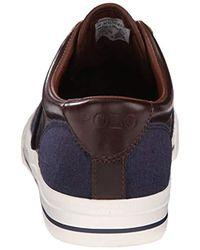 Polo Ralph Lauren - Blue Vaughn Saddle Fashion Sneaker for Men - Lyst
