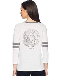 RVCA - White Cactus Road Tri-blend T-shirt - Lyst