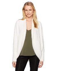 BB Dakota - White Sheryl Fuzzy Cocoon Sweater Cardigan - Lyst