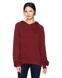 Pam & Gela - Red Distressed Sweatshirt - Lyst