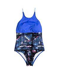 Roxy Blue Keep Fashion One Piece Swimsuit
