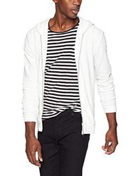 Theory - White Waffel Hoodie Long Sleeve for Men - Lyst