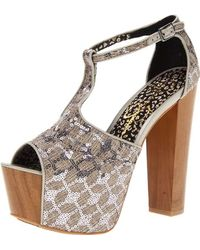 02fa0e1abdf0 Lyst - Jessica Simpson Dany Platform Sandal in Brown