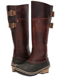 Sorel - Brown Slimpack Riding Tall Ii Snow Boot - Lyst