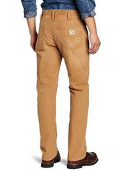 Carhartt - Brown Weathered Duck 5 Pocket Pant In Relaxed Fit for Men - Lyst