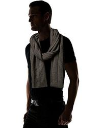 Nautica - Gray Cable Scarf for Men - Lyst