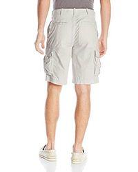 Izod - Multicolor Flat Front Lightweight Poplin Cargo Short for Men - Lyst