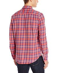 Lucky Brand - Mason Work Wear Shirt In Red Plaid for Men - Lyst