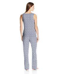 Amazon Essentials - Blue 100% Cotton Sleeveless Pajama Set - Lyst