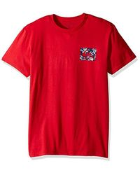Quiksilver - Red Floral Feels T-shirt for Men - Lyst