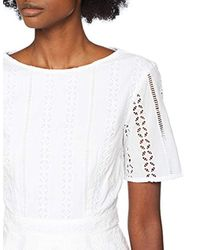 Great Plains White Betsy Broidery Midi Dress