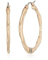 The Sak - Metallic Small Organic Click Hoop Earrings, Color Rose Gold - Lyst