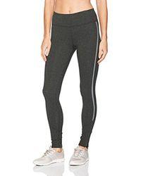 Calvin Klein - Black Performance Reflective Stripe Full Length Legging With Bottom Zipper - Lyst
