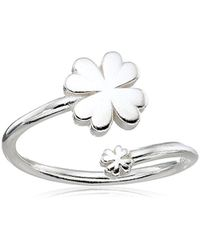 ALEX AND ANI - Metallic S Four Leaf Clover Ring Wrap - Precious Metal - Lyst