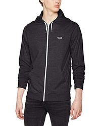 9516901411 Vans Core Basics Knit Zip Hoodie in Black for Men - Lyst