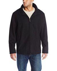 Perry Ellis - Black Big Melton Wool Jacket for Men - Lyst