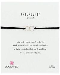 Dogeared - Metallic Friendship Double-linked Adjustable Closure Bracelet - Lyst