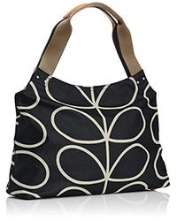 Orla Kiely - Black Etc Giant Linear Stem Classic Zip Shoulder Bag Shoulder Bag - Lyst