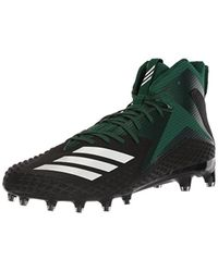 adidas Mens Freak X Carbon Mid Football Shoe 7 M US core Black//White//Dark Green