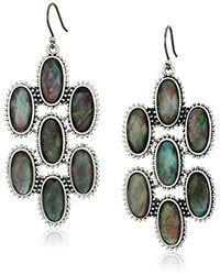 Lucky Brand - Metallic Mother-of-pearl Chandelier Earrings - Lyst