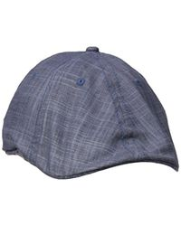 Lyst - Ben Sherman Textured Linen Driver Hat in Blue for Men 42954971f219
